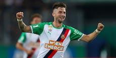 2:1! Rapid startet mit Sieg in Champions-League-Quali
