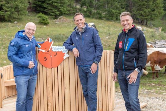 Ecoplus Geschäftsführer Helmut Miernicki, Wirtschaftslandesrat Jochen Danninger und Geschäftsführer Annaberger Lifte Karl Weber