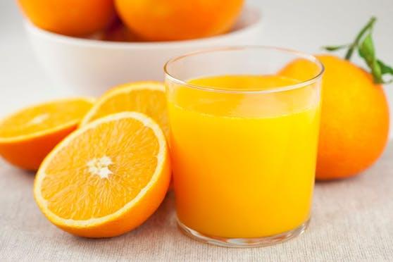 Täglich ein Glas Orangensaft schadet in keinem Fall.