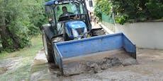 Schadenskommissionen nach Hochwasser in NÖ unterwegs