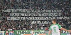 Ultras von Rapid und Sparta protestieren gegen UEFA