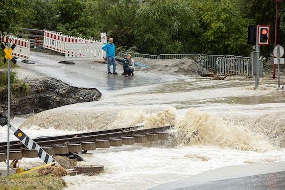 Starkregen-Unwetter verursachten am vergangenen Wochenende in Salzburg schwere Schäden.