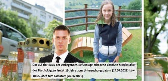 Anwalt Mathias Burger; Ausschnitt aus Befundlage; Leonie wurde in Wien getötet