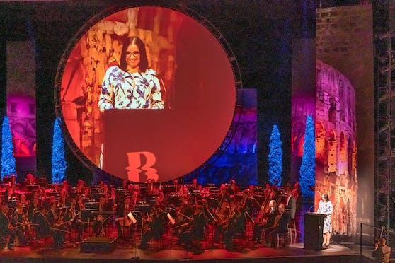Kulturstaatssekretärin Andrea Mayer (Grüne) im Rahmen der Eröffnung der 75. Bregenzer Festspiele