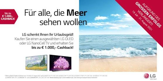 LG Electronics erstattet bis zu 1.000 Euro auf ausgewählte LG OLED und LG NanoCell TVs.