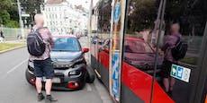 """Citroën-Lenker kracht in Wiener """"Bier""""-Straßenbahn"""
