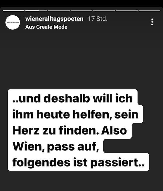 """Der Account """"Wiener Alltagspoeten"""" startete auf Instagram einen Aufruf."""