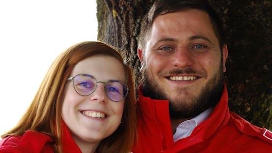 Michael (27) und Laura (24) lernten sich bei einem Rotkreuz-Ausflug nach Salzburg kennen.