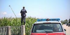 Hier fahndet die Polizei mit Drehleiter nach Einbrecher