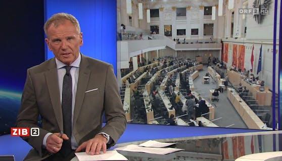 """ORF-Star Armin Wolf in der """"Zeit im Bild 2"""""""