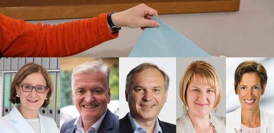 Die Frontmänner und Frontfrauen der Parteien in NÖ.
