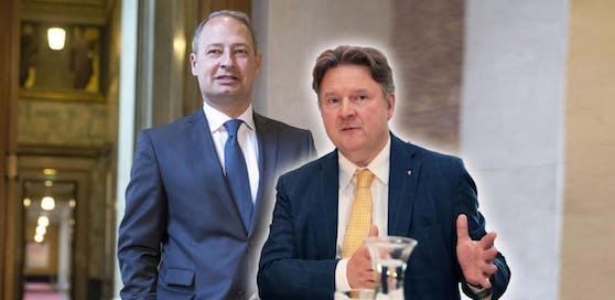 Die Bürgermeister-Kandidaten Andreas Schieder und Michael Ludwig.