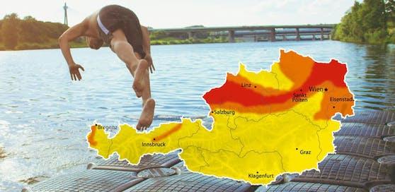 """37,6 Grad wurden vom Wetterdienst """"ubimet"""" in Haag gemessen."""