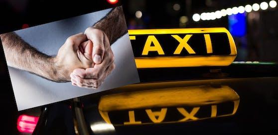 Der Fahrgast randalierte und zerstörte die Fensterscheibe des Taxis.