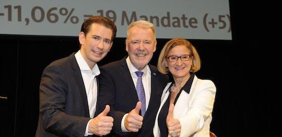 Schneeberger nach Sieg mit Landeschefin und Kanzler