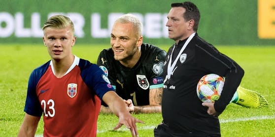 Zwei der möglichen Gegner für Arnautovic und Co.: Haaland (l.) und Herzog (r.)