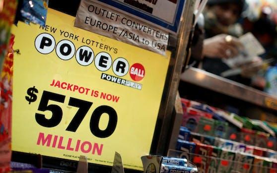 Anfang Jänner landeten 570 Millionen US-Dollar im Powerball-Jackpot.