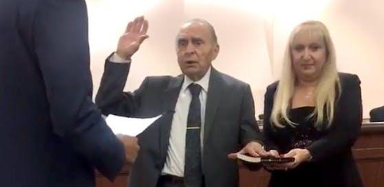 Vito Perillo bei seiner Angelobung am 3. Jänner 2018.