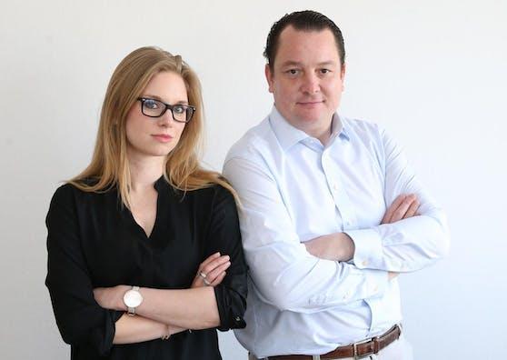 """Die Chefredaktion von """"Heute.at"""": Jacqueline Büchi und Peter Frick."""