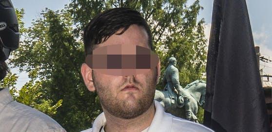 Der rechtsextreme Attentäter von Charlottesville (2.v.l.) bei einer rechten Demo.