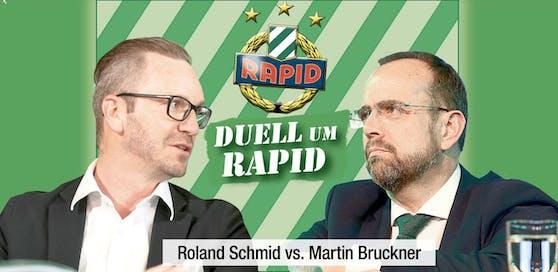 Roland Schmid und Martin Bruckner im Duell um Rapid.