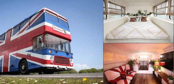 Der originale Spice-Girls-Bus wird zum Airbnb.
