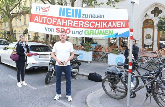 FPÖ-Verkehrssprecher und Klubobmann Toni Mahdalik ist zwar selbst passionierter Radler, aber gegen den Pop-Up-Radweg.