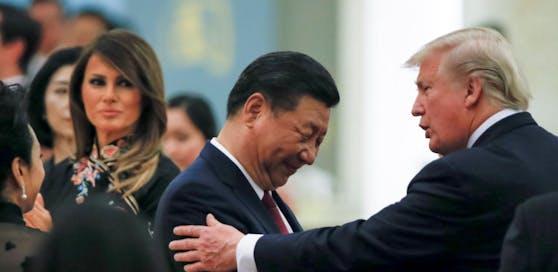 Bessere zeiten: Chinas Präsident Xi Jinping mit US Präsident Donald Trump