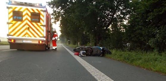 Die Frau wurde bei dem Unfall leicht verletzt