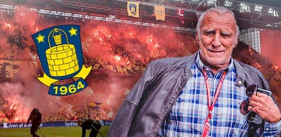 Die Bröndby-Fans wettern schon gegen Red-Bull-Boss Dietrich Mateschitz.