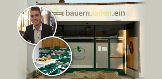 """Das Geschäft mit der Versorgung im Ort läuft gut, weiß Jakob Aufreiter. Sein Verein """"bauern.laden.ein"""" gibt den Alberndorfern die Möglichkeit von Bauern aus Alberndorf einzukaufen."""