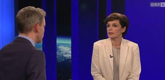 SPÖ-Chefon Pamela Rendi-Wagner in der ZiB2