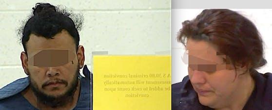 Anklage: Mutter Heather (28) und Freund Kareem (32) drohen wegen Mordes zwischen 22 und 32 Jahren Haft.