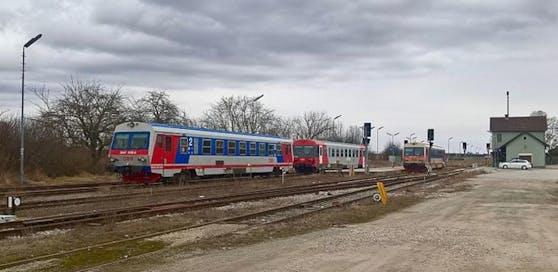 Der Bahnhof in Groß-Schweinbarth.