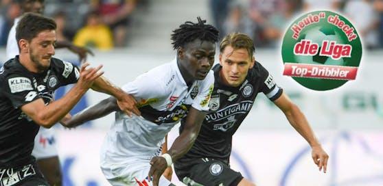 Ousmane Diakite lässt seine Gegner stehen. Ein gewohntes Bild diese Saison.
