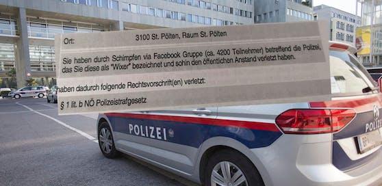"""Polizei auf Facebook als """"Wixer"""" bezeichnet: Strafverfügung über 100 Euro."""
