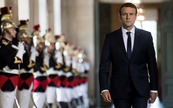 Macron bei seiner Rede in Versailles: Er will jeden dritten Abgeordneten abschaffen