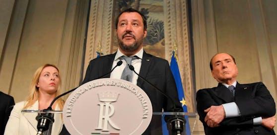 Matteo Salvini von der fremdenfeindlichen Lega Nord.