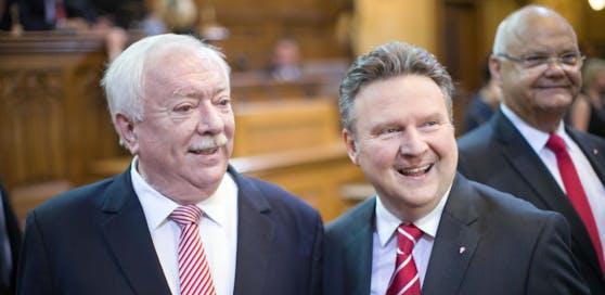Bürgermeister Michael Häupl und sein gewählter Nachfolger Michael Ludwig.