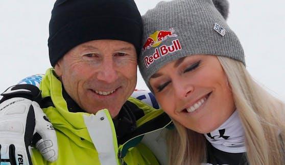 Lindsey Vonn (r.) mit ihrem großen Vorbild Ingemar Stenmark.