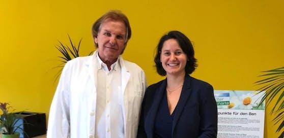 Die Josefstädter Bezirkschefin Veronika Mickel-Göttfert (ÖVP) und Bezirksärzte-Vertreter Paul Kampfhammer warnen vor zu wenig Kassenärzten im Achten.