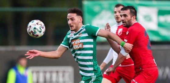 Ercan Kara in seinem ersten Einsatz für Rapid gegen Novi Sad.