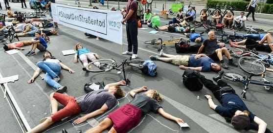 Protest gegen Verkehrstote in Berlin. Symbolbild.