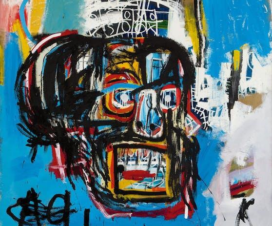 Das bunte Totenkopf-Gemälde von Jean-Michel Basquiat
