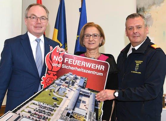 Pernkopf, Mikl-Leitner und Fahrafellner.