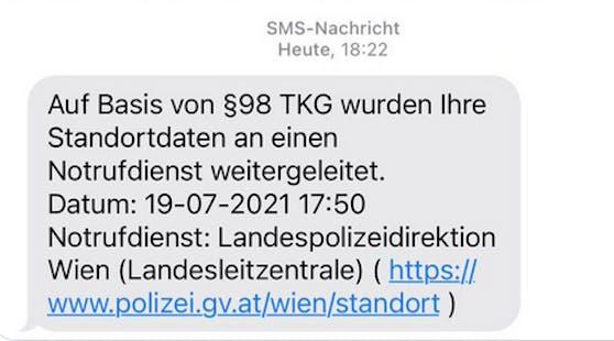 Diese SMS bekam ein Wiener