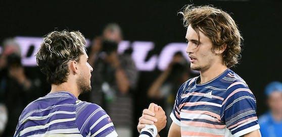 Dominic Thiem und Alexander Zverev bei den Australian Open