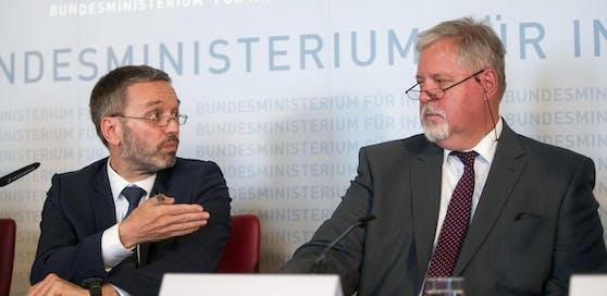 Innenminister Herbert Kickl (l.) und BVT-Direktor Peter Gridling.