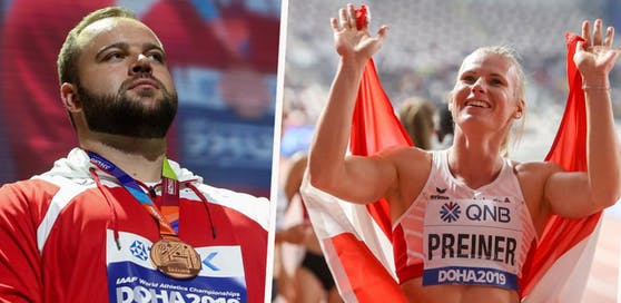 Lukas Weißhaidinger gewann Bronze im DIskuswurf, Verena Preiner Bronze im Siebenkampf.