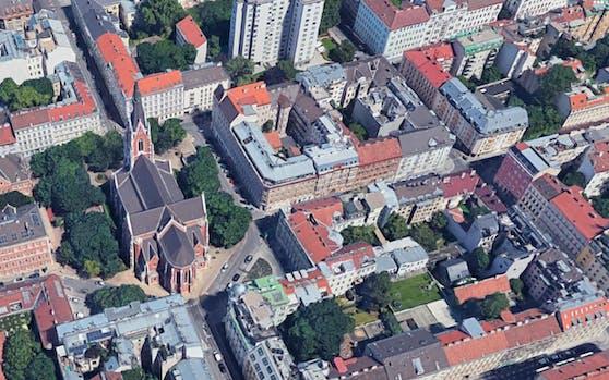 Die Karolinengasse nahe der Kirche St. Elisabeth im 4. Wiener Gemeindebezirk.